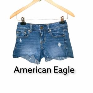 American Eagle distressed shorts